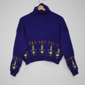Vintage Benetton Native American Print Sweater